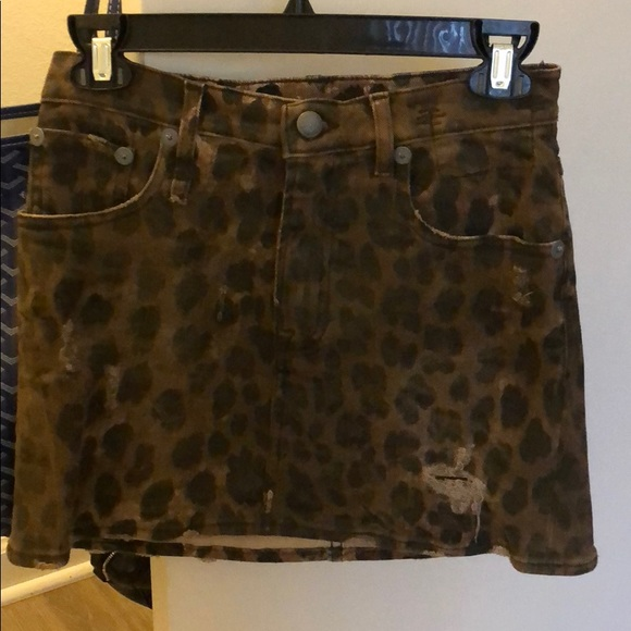 382fdcf9d R13 Skirts | New With Tags Cheetah Mini Skirt Size 25 | Poshmark
